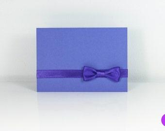 """Schleifchenkarte mit Umschlag """"Blau"""""""