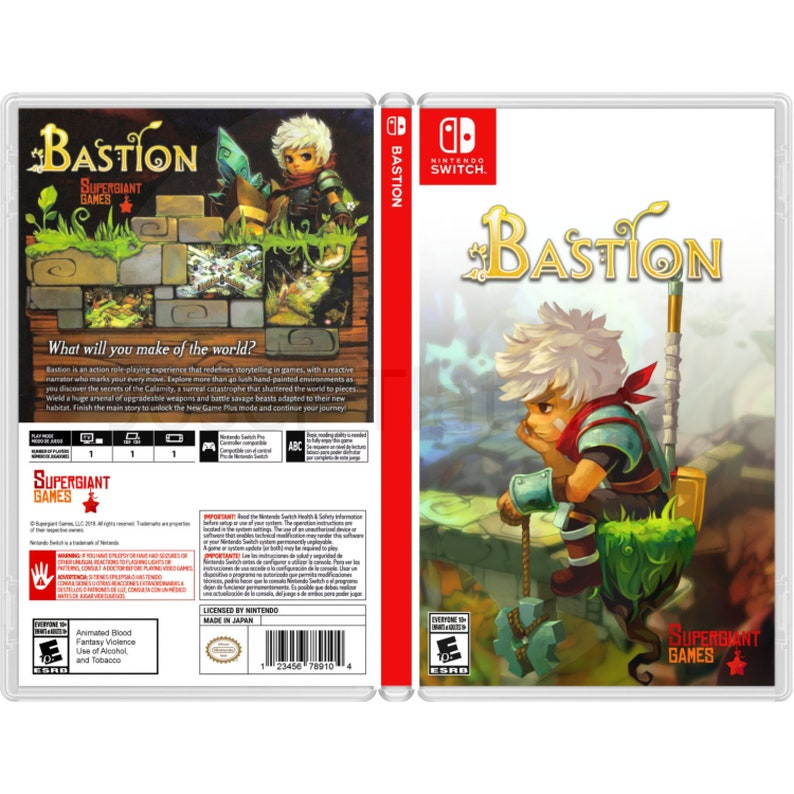 Bastion: Custom Game Case For the Nintendo Switch (NO GAME INCLUDED)
