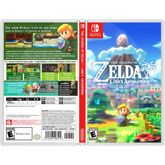 The Legend Of Zelda Link S Awakening Custom Game Case For The Nintendo Switch No Game Included