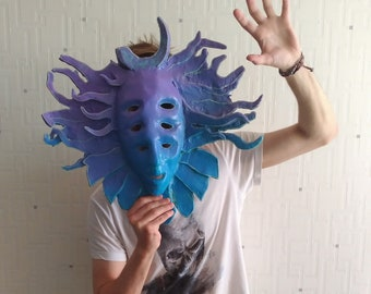 shpongle mask handmade craft merch collectable decorative mask