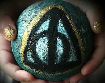 Harry Potter Inspired Bath Bomb Deathly Hallows Bath Bomb