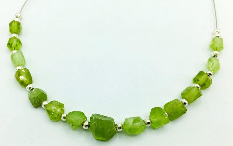 1 Strand Peridot Beads @W612