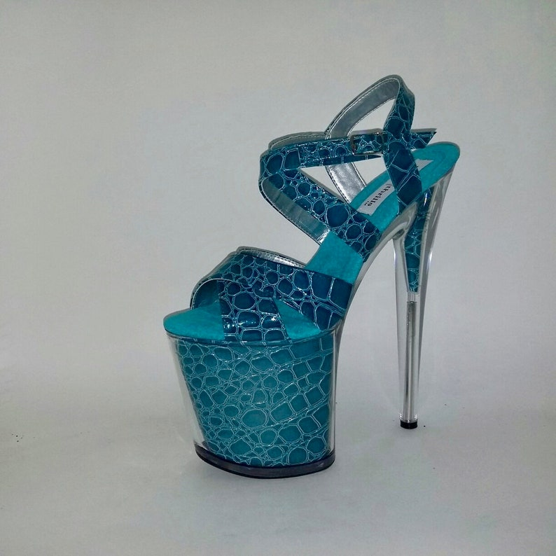 0683bc1a3f2 Pole Exotic Stripper Artist Platform Shoes High Heel Croc
