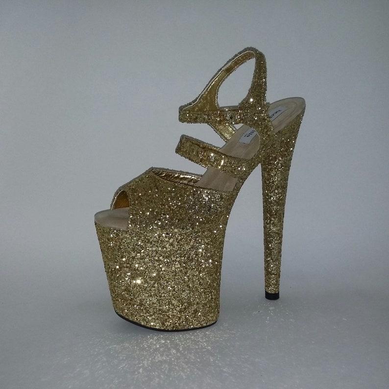 Pole Dancing Shoes Women High Heels Striptease Dancing Shoes 8  235cb0124304