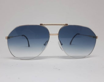 e9bcd124359 Vintage CARRERA 5336 sunglasses bimetal frame 80s gold silver luxery 1980s  original case Made in Germany mint
