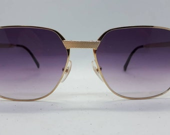 9a5a3845e4b Vintage DUNHILL 6033 sunglasses pink lenses gold lunettes gafa 80s luxery  1980s Sonnenbrille Made in Austria new old stock