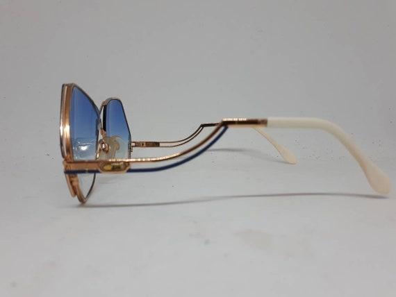 Vintage CAZAL 226 sunglasses HipHop blue gold fra… - image 3