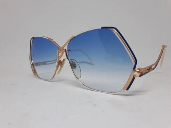 Vintage CAZAL 226 sunglasses HipHop blue gold fra… - image 2