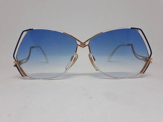 Vintage CAZAL 226 sunglasses HipHop blue gold fra… - image 1