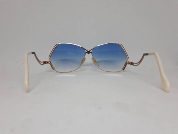 Vintage CAZAL 226 sunglasses HipHop blue gold fra… - image 4