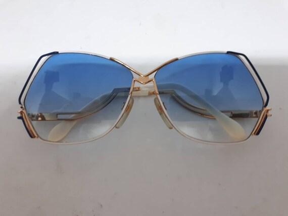 Vintage CAZAL 226 sunglasses HipHop blue gold fra… - image 5
