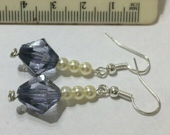 Dangle drop beaded earrings