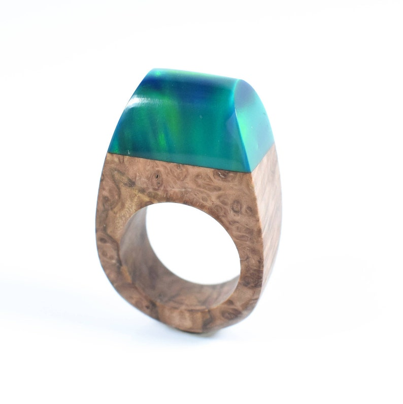 Lab Opal Teal Ring Colour Shifting Ring Lab Created Opal Ring Northern Lights Unique Gift Statement Ring Mom Gifts Special Birthday