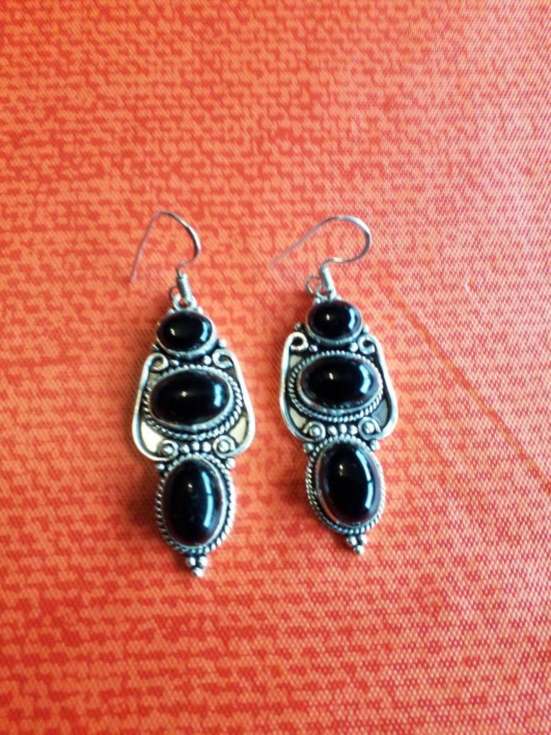 Black Onyx Earrings!