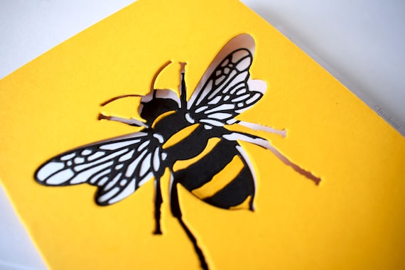 Bee Greetings card, manchester bee