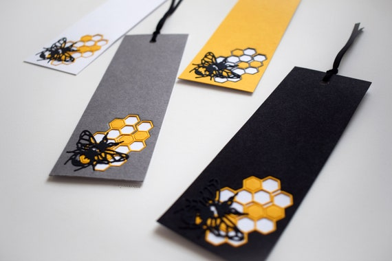 Honeycomb and Bee bookmark