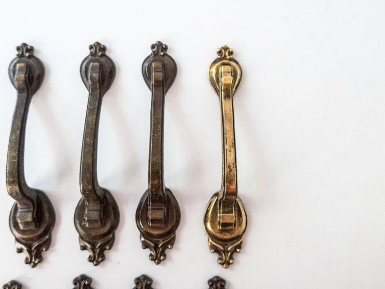 Vintage Brass Dresser Cabinet Door Handles Set Of 12 Pulls Amerock Corp D246501 Mid Century
