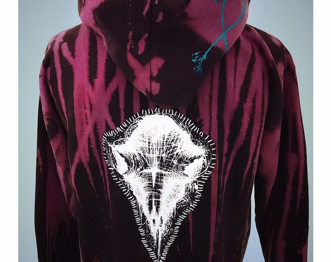 Purple born im dust embroidered hoodie choose your back patch