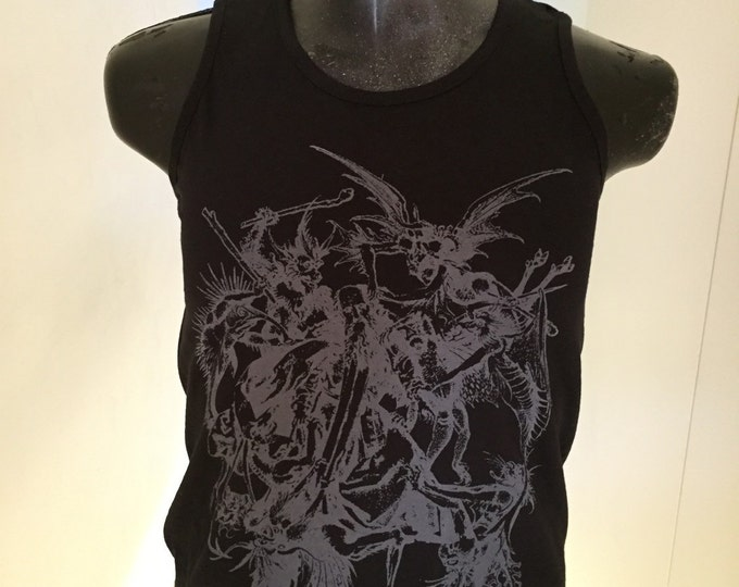 Satanic/occult screen printed tshirt/vest