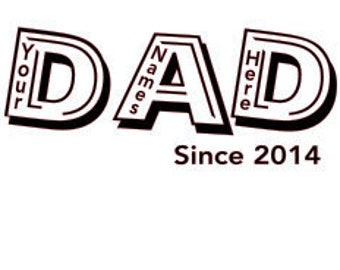 Personalized Dad - Father's Day SVG