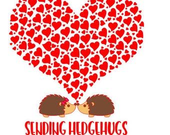 Sending Hedgehugs SVG