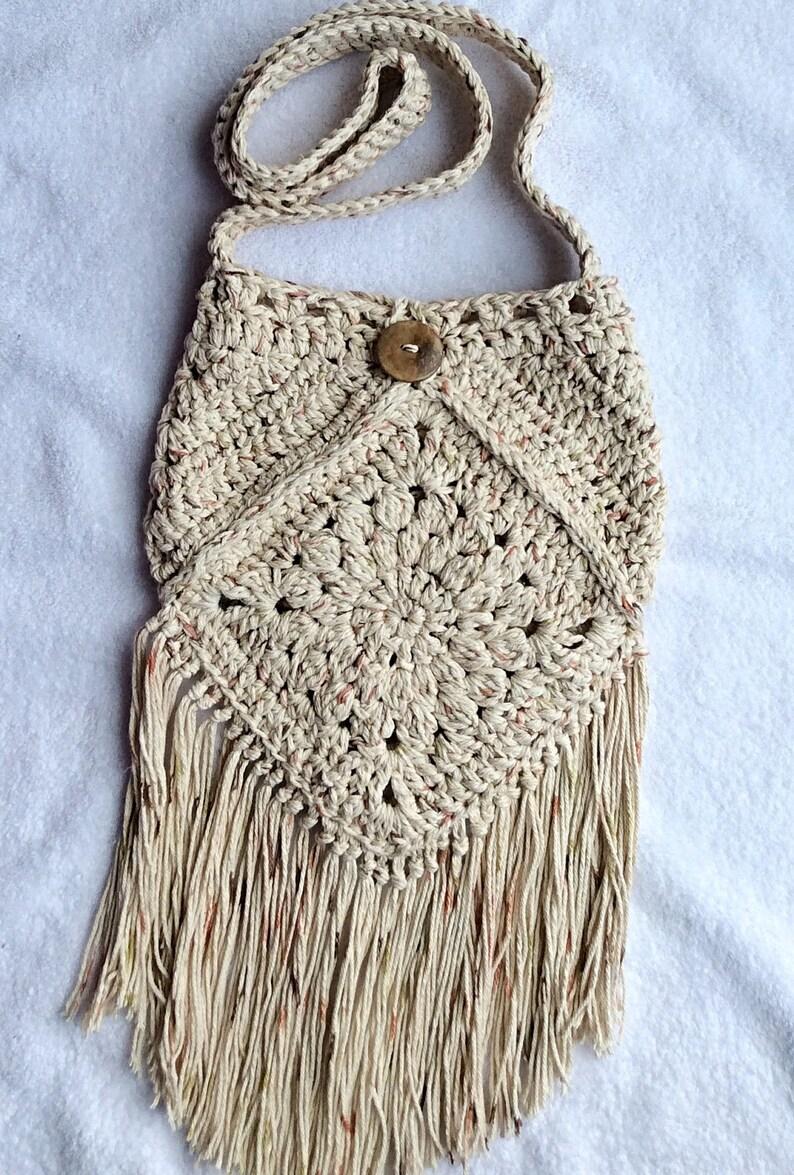 22ccb48c6 Boho Purse/Boho Bag/Gypsy Purse/Gypsy Bag/Crochet Fringe | Etsy