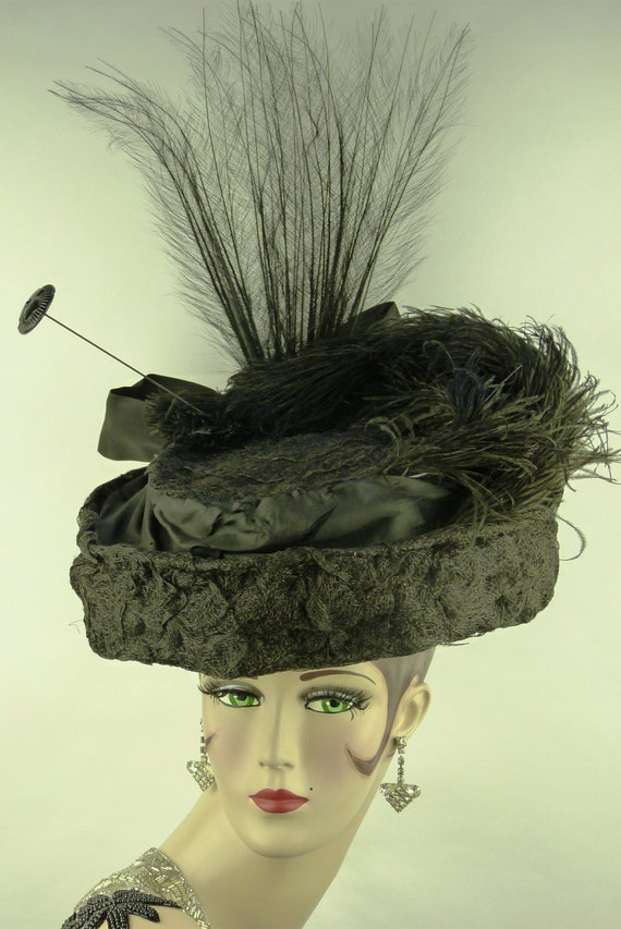 Antique elephant hat Pin from france victorian edwardian Stone elephant figurine