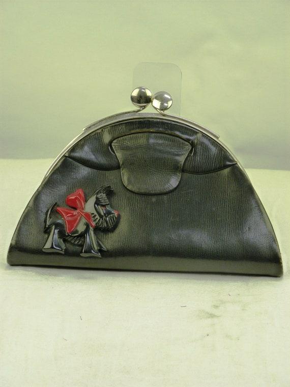 Exceptional vintage SCOTTIE DOG HANDBAG, Purse, B… - image 6