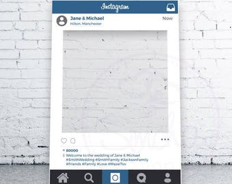 Instagram Selfie Frame, Social Media, Photobooth, Selfie Frame, Instagram, Selfie, Wedding, Engagement, Birthday, Bar Mitzvah, Party, Prop