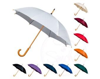 Wedding Umbrella with Wooden Handle, Umbrella, Wedding Umbrella, Wedding Parasol, Wedding Accessory, Bridal Umbrella, Parasol, Bride, Groom