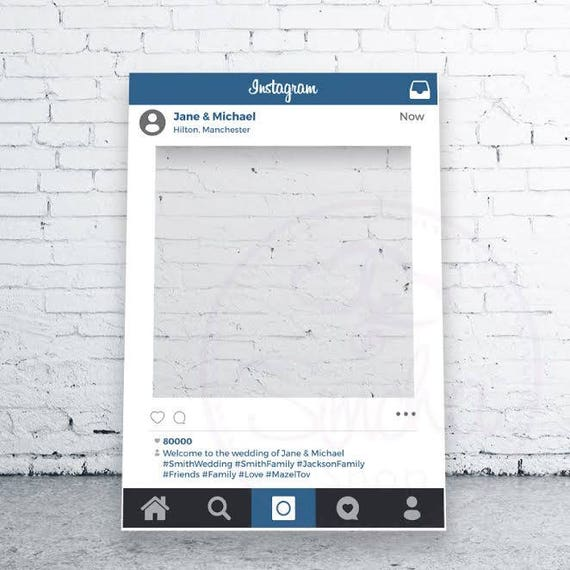 Instagram Selfie Frame Social Media Photobooth Selfie Etsy
