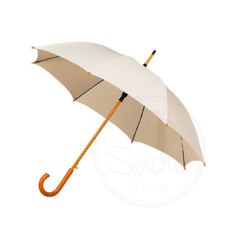 Ivory Umbrella Wedding Umbrella Umbrella Wedding Parasol Ivory Wedding Umbrella with Wooden Handle Bridal Umbrella Parasol Ivory