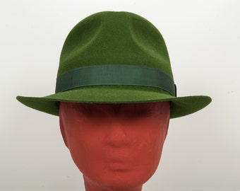 e3f60c95baeceb Cypress green, Felt Fedora, Classic hat, Green Fedora, Women's hat, Winter  hats, Hatmaker, Greek hats