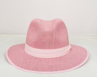 e3d659f234a Straw hats,pink hat,lillac hats,fedora,straw fedora,pink fedora,gift for  her,gift for women,summer hats,sun hats,egst