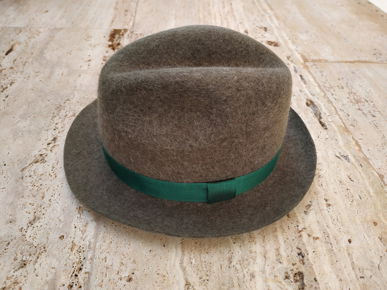 7735f596e Trilby hat,Fedora hat,Wool hat,Light green hat,Mens hats,Womans hats,Panama  hats,Handmade hats