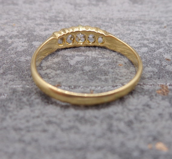Antique Victorian Diamond Engagement Ring - image 4