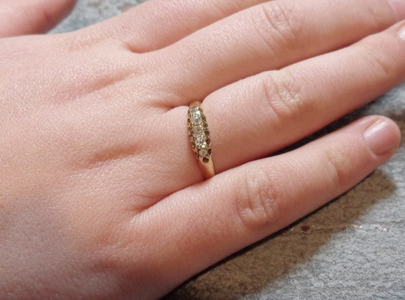 Antique Victorian Diamond Engagement Ring - image 6