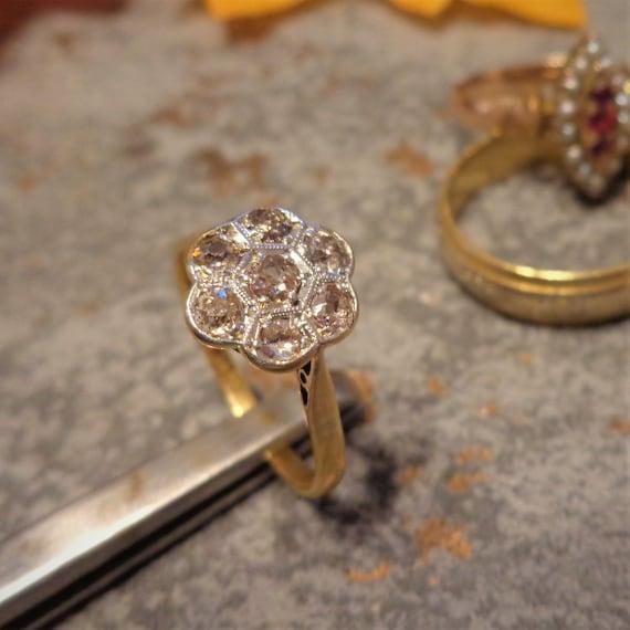 Antique Victorian Diamond Ring - Vintage Sweethear