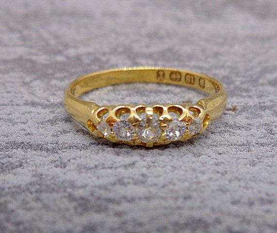 Antique Victorian Diamond Engagement Ring - image 1