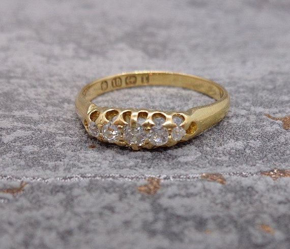 Antique Victorian Diamond Engagement Ring - image 2