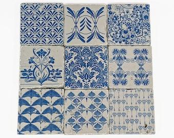 BENITO 9 Set of Vintage Tiles / Coasters / Retro Tiles