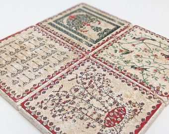 Charming set of 4 vintage tiles / coasters / retro tiles PROVENCE