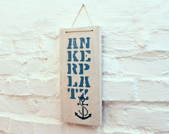 Anchor Square mural made of wood for your home