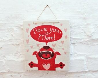 LOVE YOU MOM Sugar Sweet mural for Hundemami's Cat mamis