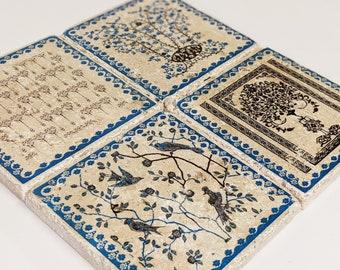 VIGO set of 4 skids vintage tiles / coasters / retro tiles
