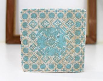 Retro tile Tunis Vintage Travertine Tile/Coaster/Deco