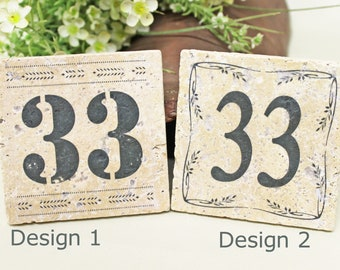 Vintage Tile House Number Retro tile