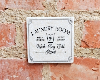 LAUNDRY ROOM Laundry Vintage Tile Retro Tile