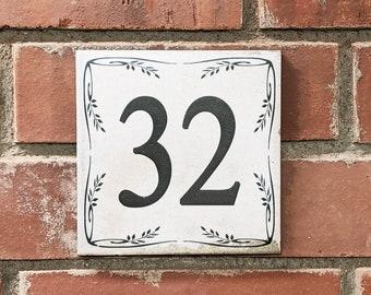VINTAGE FLIESE 15 x 15 cm House number+street name or individual imprint