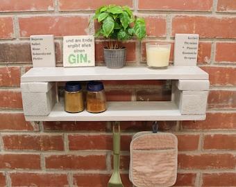 Vintage Spice Shelf Wooden Shelf KITCHEN REGAL Retro Design UNIQUE
